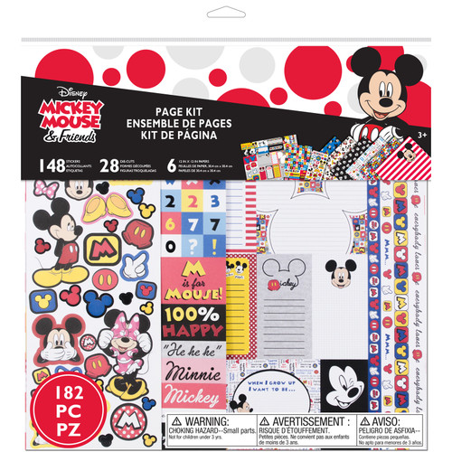 Disney Mickey Mouse & Friends Collection Mickey Mouse 182-Piece Page Kit by EK Success