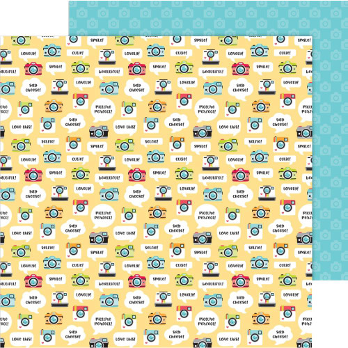 I Heart Travel Collection Picture This 12 x 12 Double-Sided Scrapbook Paper by Doodlebug Design