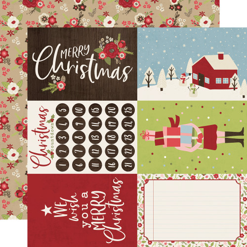 Holly Jolly Collection 4 x 6 Element 12 x 12 Double-Sided Scrapbook Paper by Simple Stories