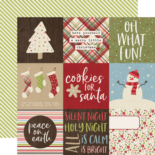 Holly Jolly Collection 4 x 4 Elements 12 x 12 Double-Sided Scrapbook Paper by Simple Stories