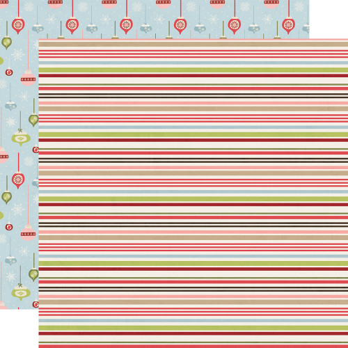 Holly Jolly Collection Christmas Cheer 12 x 12 Double-Sided Scrapbook Paper by Simple Stories