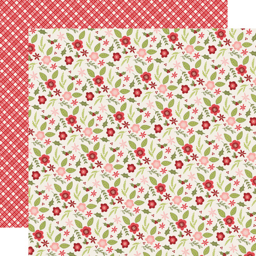 Holly Jolly Collection Peace & Joy 12 x 12 Double-Sided Scrapbook Paper by Simple Stories