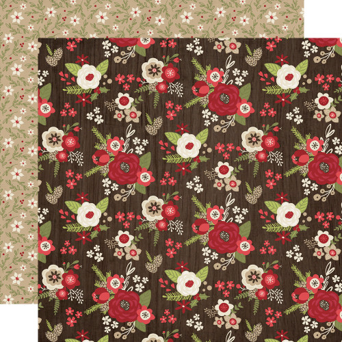 Holly Jolly Collection Home For The Holidays 12 x 12 Double-Sided Scrapbook Paper by Simple Stories