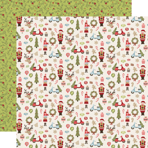 Holly Jolly Collection Oh What Fun! 12 x 12 Double-Sided Scrapbook Paper by Simple Stories