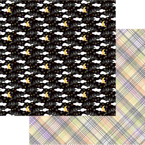 Trick Or Treat Collection Batty For You 12 x 12 Double-Sided Scrapbook Paper by Photo Play Paper