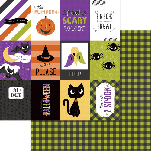 Trick Or Treat Collection Happy Boo Day 12 x 12 Double-Sided Scrapbook Paper by Photo Play Paper