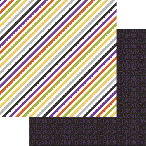 Trick Or Treat Collection Eeek 12 x 12 Double-Sided Scrapbook Paper by Photo Play Paper
