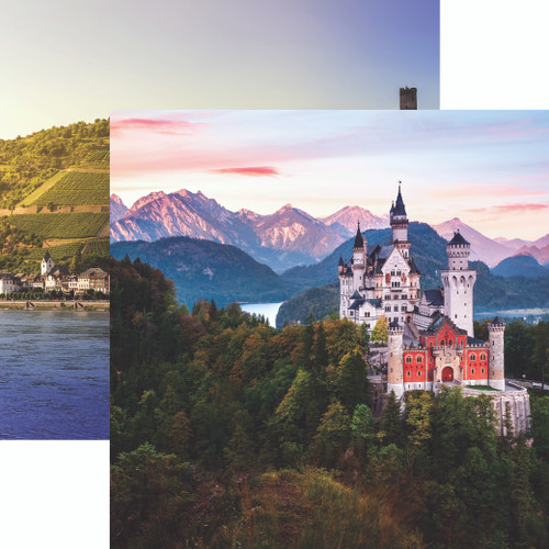 Germany Collection Neuschwanstein Palace 12 x 12 Double-Sided Scrapbook Paper by Reminisce