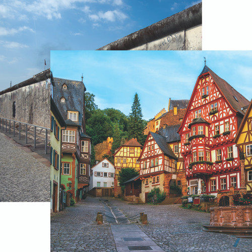 Germany Collection Old Town 12 x 12 Double-Sided Scrapbook Paper by Reminisce