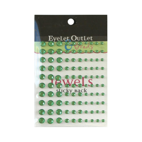 Our Brads Need Friends Collection Multi Green Self-Adhesive Jewels by Eyelet Outlet - 100 Jewels