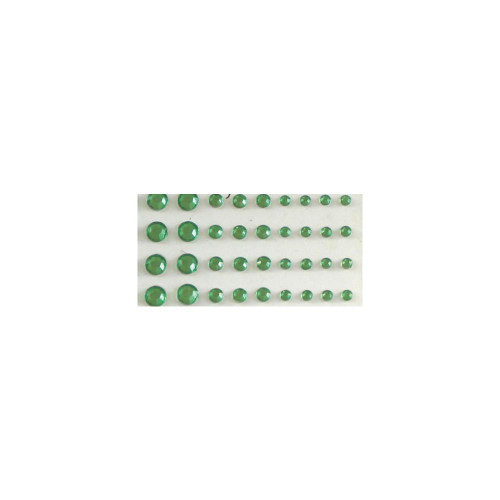 Our Brads Need Friends Collection Multi Size Green Self-Adhesive Jewels by Eyelet Outlet - 100 Jewels