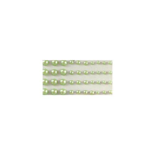 Our Brads Need Friends Collection Green Multi-Sized Self-Adhesive Pearls by Eyelet Outlet - 100  Pearls