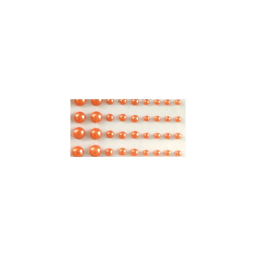 Our Brads Need Friends Collection Orange Multi-Sized Self-Adhesive Pearls by Eyelet Outlet - 100  Pearls