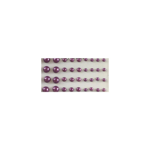 Our Brads Need Friends Collection Purple Multi-Sized Self-Adhesive Pearls by Eyelet Outlet - 100  Pearls
