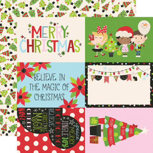 Say Cheese Christmas 4 x 6 Elements 12 x 12 Double-Sided Scrapbook Paper by Simple Stories