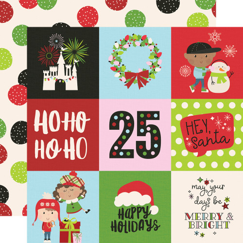 Say Cheese Christmas 4 x 4 Elements 12 x 12 Double-Sided Scrapbook Paper by Simple Stories