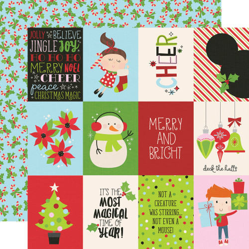 Say Cheese Christmas 3 x 4 Elements 12 x 12 Double-Sided Scrapbook Paper by Simple Stories