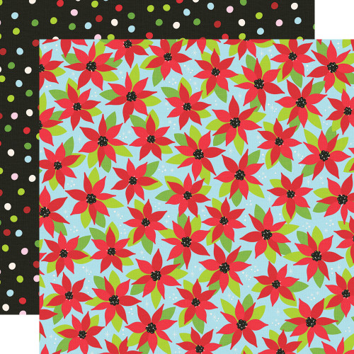 Say Cheese Christmas Making Spirits Bright 12 x 12 Double-Sided Scrapbook Paper by Simple Stories