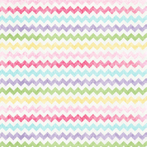 Easter Baskets & Bunnies Collection Easter Egg Chevron 12 x 12 Scrapbook Paper by Scrapbook Customs
