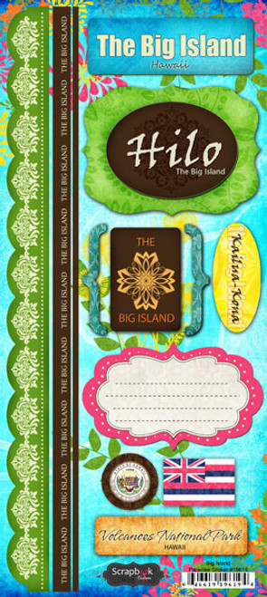 Paradise Collection The Big Island Hilo 6 x 12 Cardstock Sticker Sheet by Scrapbook Customs