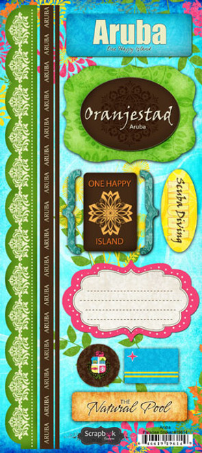 Paradise Collection Aruba 6 x 12 Cardstock Sticker Sheet by Scrapbook Customs