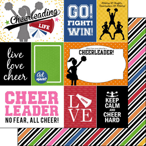 Sports Life Collection Cheer Life 12 x 12 Double-Sided Scrapbook Paper by Scrapbook Customs