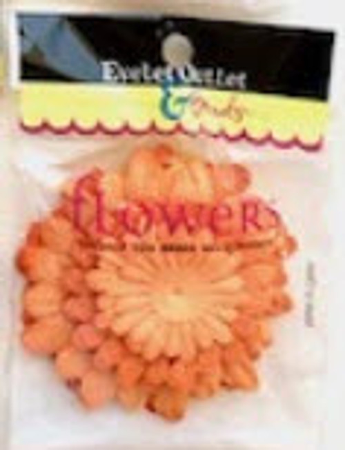 "1.5"", 2"", 2.5"" Orange Scrapbook Flowers by Eyelet Outlet - 40 Pieces"