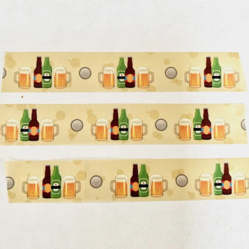 Beer Bottles Washi Tape by Eyelet Outlet - 32 Feet