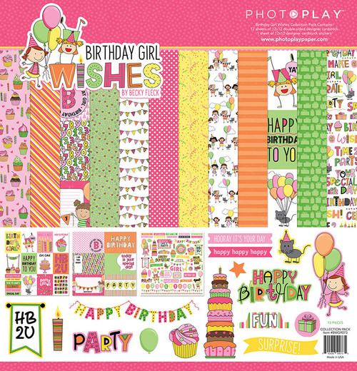 Birthday Girl Wishes 12 x 12 Scrapbook Collection Pack by Photo Play Paper