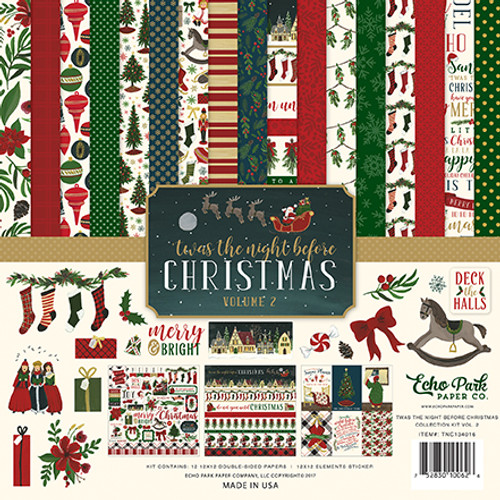 'Twas The Night Before Christmas Volume II 12 x 12 Collection Kit by Echo Park Paper - 13 Pieces
