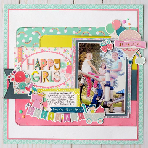 Imagine That Girl Collection 12 x 12 Collection Kit by Echo Park Paper - 13 Pieces