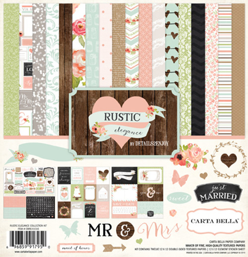 Rustic Elegance Collection 12 x 12 Collection Kit by Carta Bella - 13 Pieces