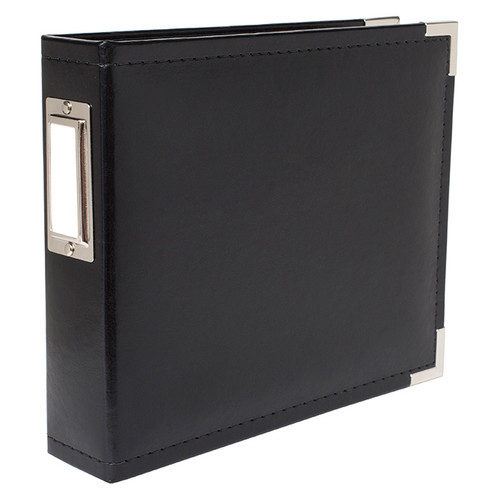 Classic Leather Black 12 x 12 D-Ring Scrapbook Album by We R Memory Keepers