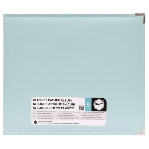 Classic Leather Mint 12 x 12 D-Ring Scrapbook Album by We R Memory Keepers
