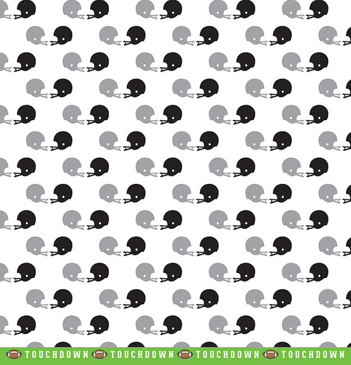 Color of Memories Collection Football Field 12 x 12 Double-Sided Scrapbook Paper by American Crafts