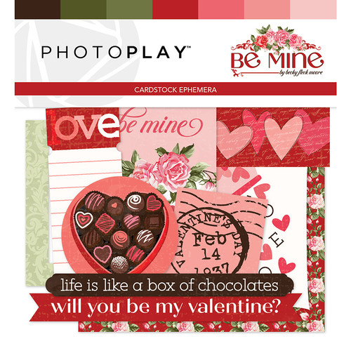 Be Mine Collection 5 x 5 Ephemera Scrapbook Die Cuts by PhotoPlay Paper