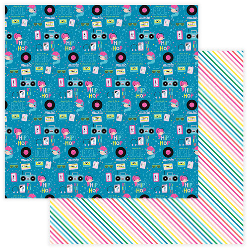 Star Of The Show Collection Hip Hop 12 x 12 Double-Sided Scrapbook Paper by PhotoPlay Paper