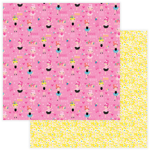 Star Of The Show Collection Ballerina 12 x 12 Double-Sided Scrapbook Paper by PhotoPlay Paper