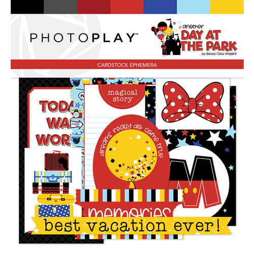 Another Day At The Park Collection 5 x 5 Ephemera Scrapbook Die Cuts by PhotoPlay Paper
