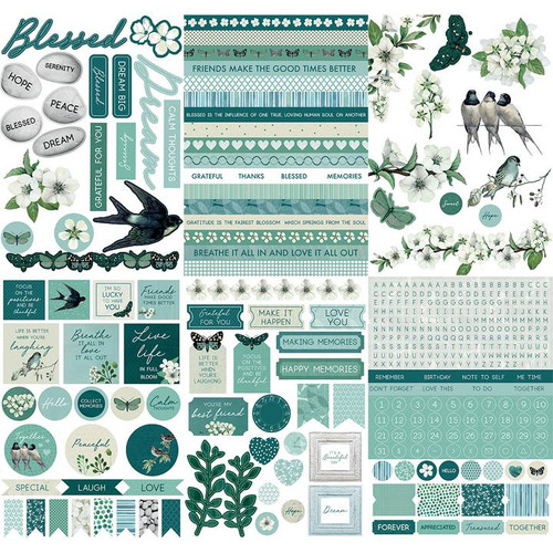 Morning Dew Collection 6 x 8 Sticker Pad by Kaisercraft