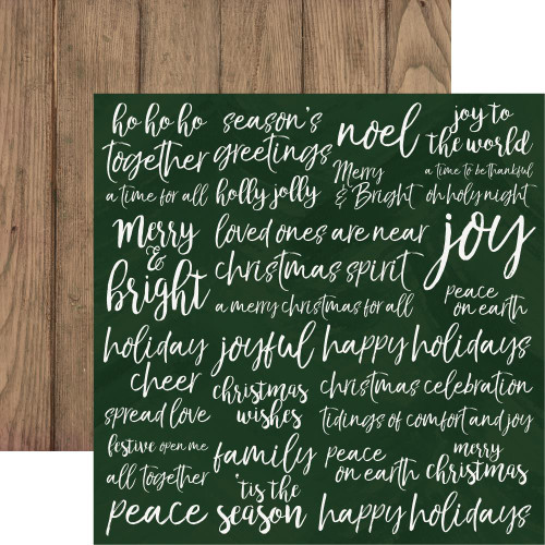 Peace & Joy Collection Delight 12 x 12 Double-Sided Scrapbook Paper by Kaisercraft