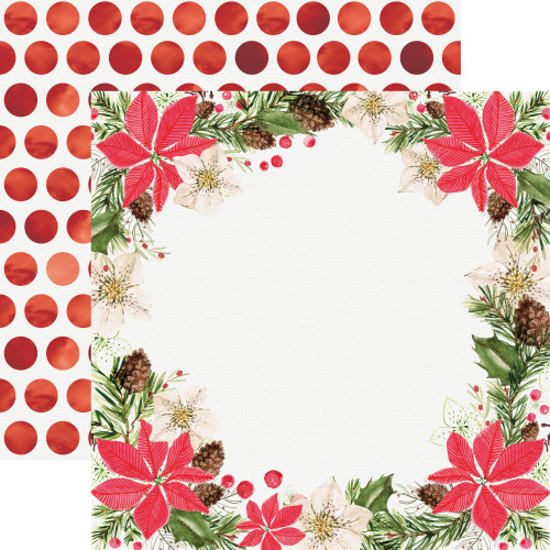 Peace & Joy Collection Festivity 12 x 12 Double-Sided Scrapbook Paper by Kaisercraft