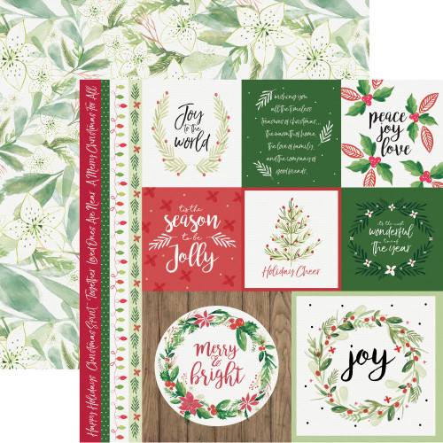 Peace & Joy Collection Merry 12 x 12 Double-Sided Scrapbook Paper by Kaisercraft