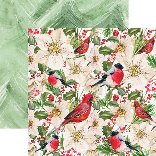 Peace & Joy Collection Frolic 12 x 12 Double-Sided Scrapbook Paper by Kaisercraft