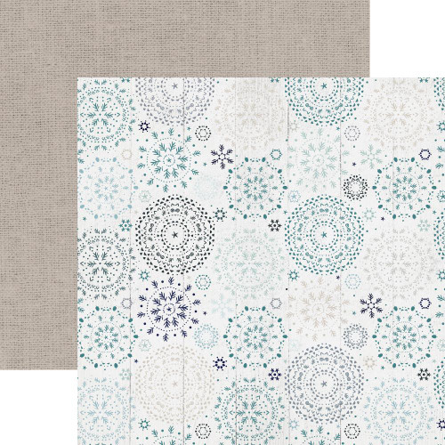 Wonderland Collection Snowfall 12 x 12 Double-Sided Scrapbook Paper by Kaisercraft