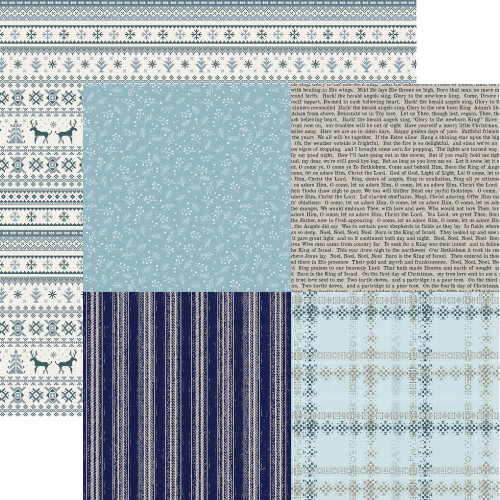 Wonderland Collection Woolly 12 x 12 Double-Sided Scrapbook Paper by Kaisercraft