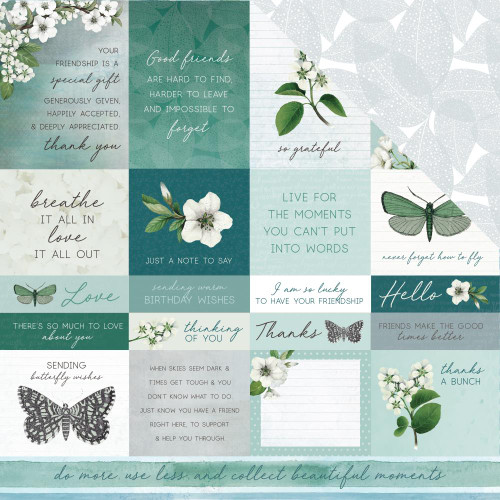 Morning Dew Collection Refresh 12 x 12 Double-Sided Scrapbook Paper by Kaisercraft