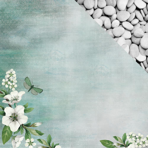 Morning Dew Collection Breathe 12 x 12 Double-Sided Scrapbook Paper by Kaisercraft