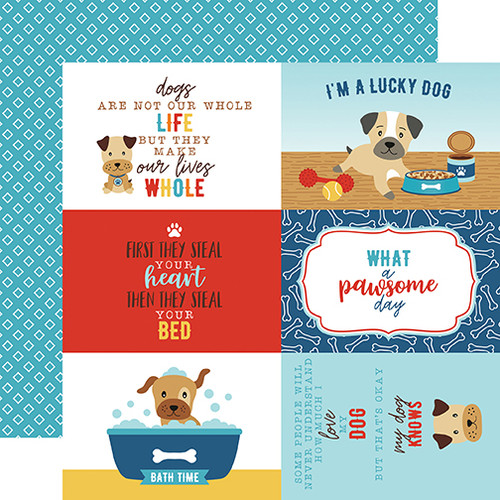 I Love My Dog Collection 4 x 6 Journaling Cards 12 x 12 Double-Sided Scrapbook Paper by Echo Park Paper