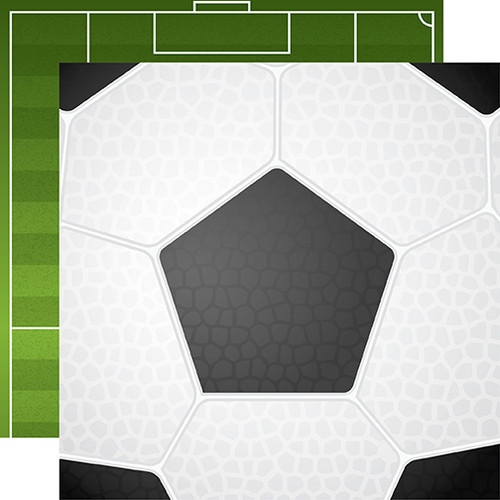 Soccer Collection Soccer Ball 12 x 12 Double-Sided Scrapbook Paper by Echo Park Paper